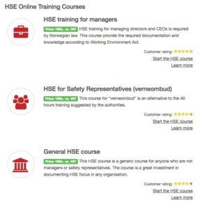 Helse miljø og sikkerhet på engelsk